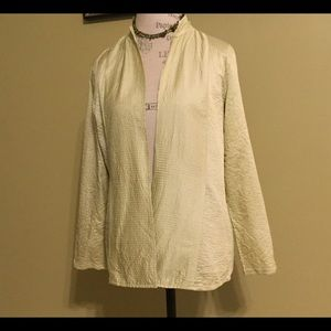 Eileen Fisher open front blazer size small